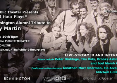 The Public Theater presents The 24 Hour PlaysR - A Bennington Alumni Tri...